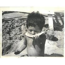 1964 Press Photo Gary Upchurch California Watermelon