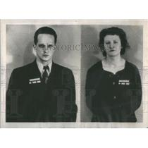 1938 Press Photo Gunther Gustave Rumrich & Johanna Hofmann Arrested As Spies