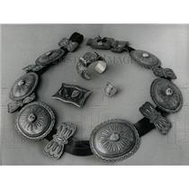 1975 Press Photo Hand Made Navajo Belts and Hopi Rings - RRW64543