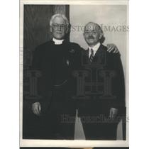 1930 Press Photo Rev Mr Elliott White Ben Lindsay William Manning Grace Church