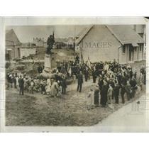 1933 Press Photo American Poet Allan Seeger Monument - RSC47945