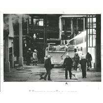 1983 Press Photo Explosion Marathon Refiney Melvindale