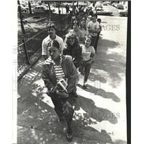 1978 Press Photo Life Guard Posting Selection Chicago - RRW44227