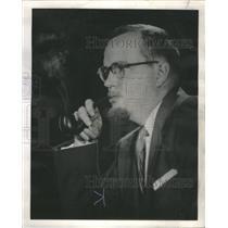 1959 Press Photo E.B. Long Research Director Civil War