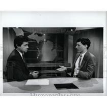 1989 Press Photo Paul Gross, Rich Mayk TV