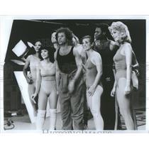 Press Photo Richard Simmons Company Shooting National Fitness television public