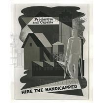 1953 Press Photo Poster Chicago Handicapped - RRW38633