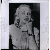 1950 Press Photo Jean Wallace American Film Actress - RRX50425