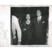 1950 Press Photo Olga San Juan star Hollywood husband Edmond Brien daughter