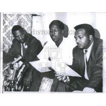 1966 Press Photo Robert Lucas, Bill Robinson, and Frank Oitto Civil Rights