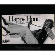 1990 Press Photo Billboard bearing Illinois Bell Slogan - RRW65295