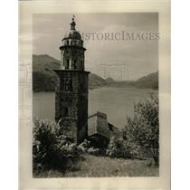 1928 Press Photo The tower of the Church of Morcote - RRX69915