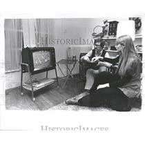 1974 Press Photo TV Receiver Brings Football Home