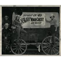 1949 Press Photo Junior Chamber Commerce Combined XRay