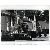 1987 Press Photo Wyandotte Michigan City Residents