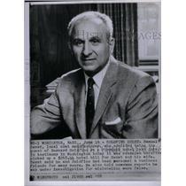 1958 Press Photo Bernard Goldfine Textiles - RRX48229