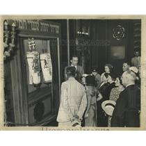 1933 Press Photo Hall Of Science Jewish Exhibit - RRW53477