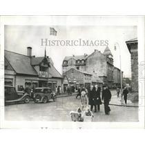 1941 Press Photo A scene in main street of Reykjavik. - RRX81559