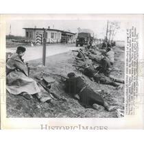 1956 Press Photo Hungarian Rebels guard Border highway - RRX81587