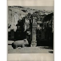 1947 Press Photo Kailasa Temple In Ellora, India - RRX69821