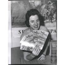 1961 Press Photo Alice Pappas Spanish National Tourist Office Chicago Literature