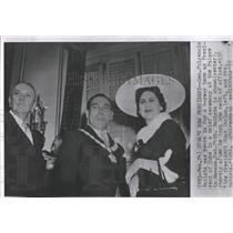 1955 Press Photo Gen. Fulgencio Batista Sworn In - RRX84609
