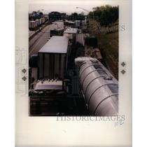 1991 Press Photo Tuesday Canadian Trucker Blockade Fish - RRX49697