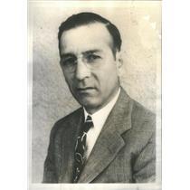 1935 Press Photo Alejandro V. Martinez Mexican Diplomat - RSC95851