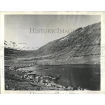 1943 Press Photo Granite Snow Topped Peaks Iceland - RRX81487