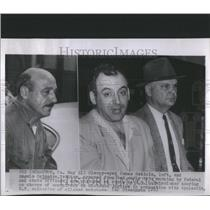 Press Photo Sleepy eyed James Osticio Angelo Sciandra Federal state officers bed
