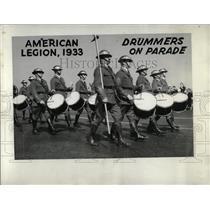 1933 Press Photo American Legion Drummers Parade - RRW69701