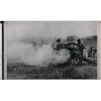 1963 Press Photo Civil War Cannon Rebels