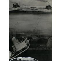 1923 Press Photo Buried Treasure Underwater Sled - RRX46481