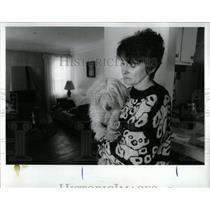 1993 Press Photo Homeowner Margo Kaminski  Detroit