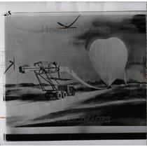 1957 Press Photo Rocket Balloon Launching