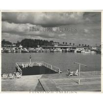 1954 Press Photo Clearwater,Fla,Marina - RRX84273