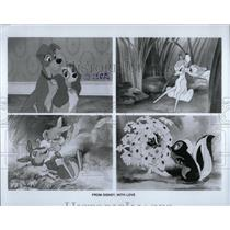 1984 Press Photo Disney Characters