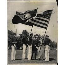 1931 Press Photo US Military Ceremonies Annapolis Mich - RRW25199