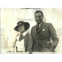 1933 Press Photo Charles Marshall Wife Edna Best Berengaria New York - RSC08913