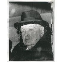 Press PhotoBack Retired Politics Rain Winston Churchill - RSC45345