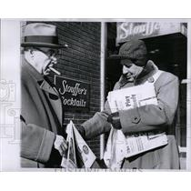 1960 Press Photo Detroit Old Newsboys James Madona