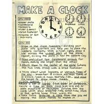 Press Photo News paper material make clock Times - RRW50593