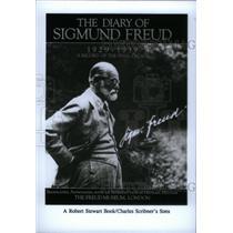 1992 Press Photo Book Cover Diary Sigmund Freud - RRX48133