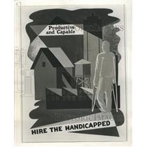1953 Press Photo Poster Chicago Handicapped - RRW38641