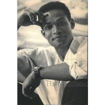 1928 Press Photo Mario Van Peebles Melvin Sonny Spoon Brandon Tartikoff Cannell