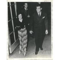 1936 Press Photo Arline Judge Film Actress Tony Martin Singer Chicago Night Club