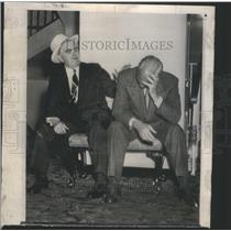 1949 Press Photo John Lewis President United Mine Workers Hubert Howard