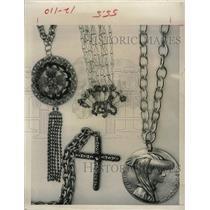 1968 Press Photo Jewelries Necklace Pendants - RRX64667