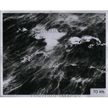 1956 Press Photo Hurricane Hits Atlantic Ocean - RRX54229