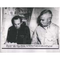 Press Photo Communist correspondent Burchette Paris Ce Soir Maj. Gen. Dean